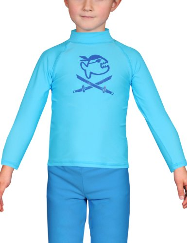 iQ-UV Kinder UV-Shirt IQ 300 Kiddys Long Sleeve Jolly Fish, Turquoise, 80 von iQ-UV