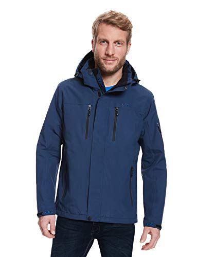 Jeff Green Herren Atmungsaktive wasserdichte Outdoor Funktionsjacke Harstad 12.000mm Wassersäule, Größe - Herren:S, Farbe:Deep Navy von Jeff Green