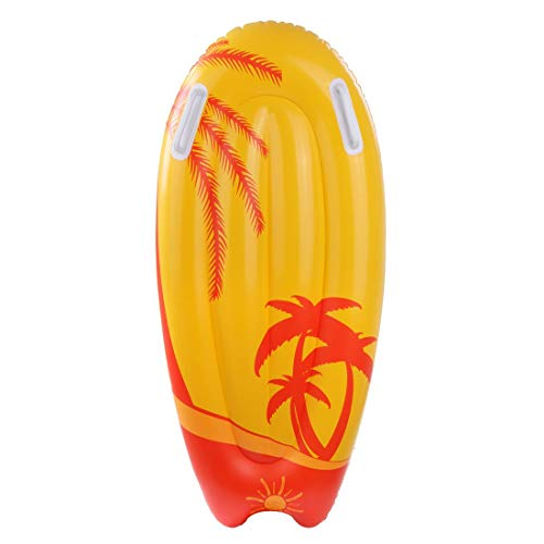 Jilong Kick-Board Orange Wave Wakeboard 95x45x15 cm Schwimmbrett Surfbrett Wellenreiter Luftmatratze von Jilong