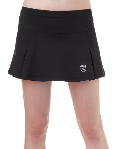 K-Swiss Front Pleat Damen Skirt, Schwarz, Gr. M von K-Swiss