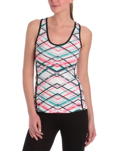 K-Swiss Racerback Shell Damen Tank M rot - Rouge Red Plaid/Noir von K-Swiss