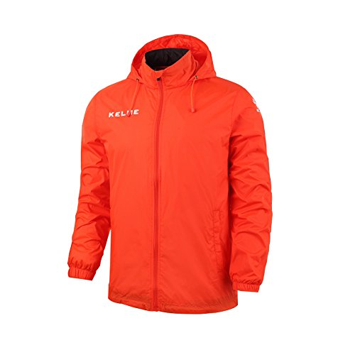 Kelme Kid Windproof Jacket Regenjacke, Kinder, Orange, 160 von Kelme