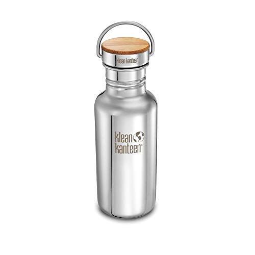 Klean Kanteen Reflect Vacuum Insulated Trinkflasche mit Stainless Unibody Bamboo Cap Mirrored Stainless 592ml/20oz von Klean Kanteen