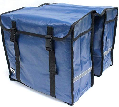 2b6db5e65454d große 46 liter TREKKING FAHRRADTASCHE GEPÄCKTASCHE Doppelpacktasche aus  BISONYL (Blau)
