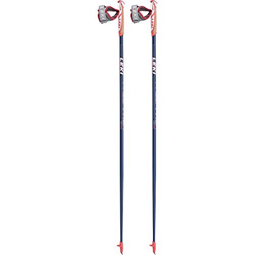 LEKI Pacemaker Nordic Walking Stock, Dark Blue Metalic/White/Neon Red, 120 von LEKI