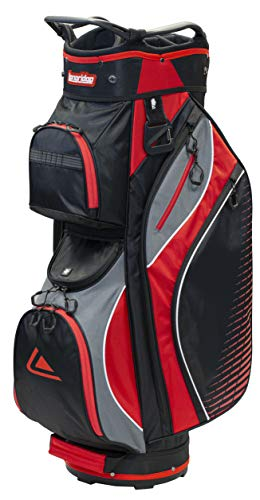 LONGRIDGE Deluxe LITE CART Bag SCHWARZ/Charm/ROT von LONGRIDGE