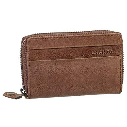 0d2f83d5660bb Kleines Branco Leder Kreditkartenetui Kartenetui Geldbörse Geldbeutel -  Platz für über 8 Karten - Farbe Braun