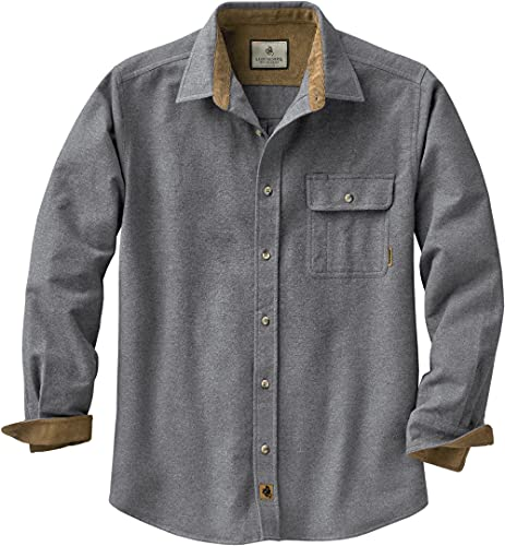 Legendary Whitetails Herren Buck Camp Flanellhemd, Herren, Langärmelig, Buck Camp Flannel Shirt, Charcoal Heather, 5X-Large von Legendary Whitetails