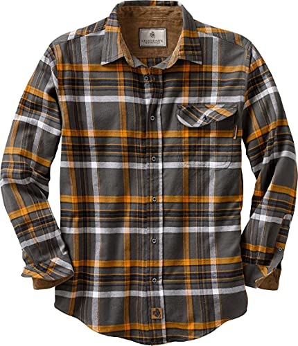Legendary Whitetails Herren Big & Tall Buck Camp Flanellhemd Platinum Plaid, Größe 3XL von Legendary Whitetails