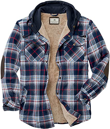Legendary Whitetails Herren Camp Night Berber Gefütterte Kapuze Flanell Button Down Shirt Größe L Night River Plaid von Legendary Whitetails