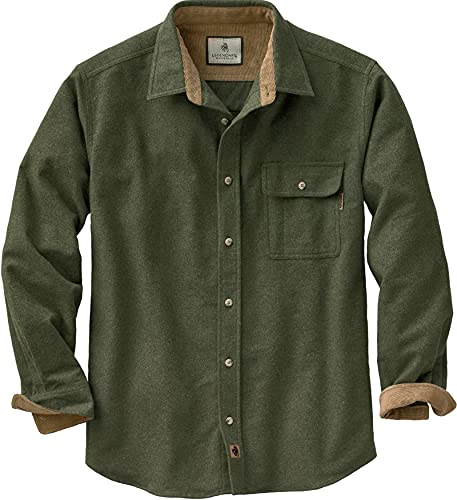 Legendary Whitetails Herren Flanellhemd Buck Camp, Herren, Langärmelig, Buck Camp Flannel Shirt, Army, Medium von Legendary Whitetails