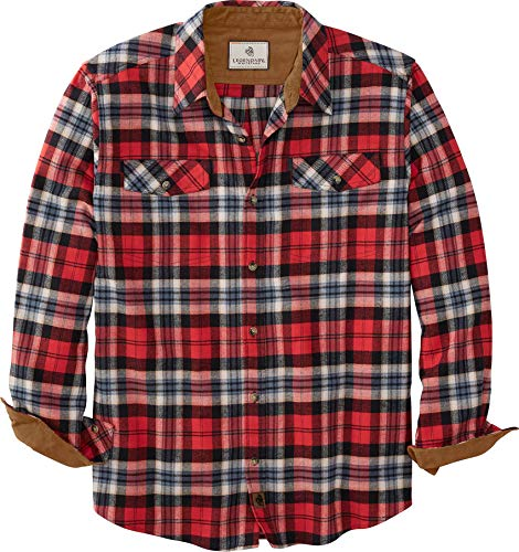 Legendary Whitetails Herren-Flanell-Langarm, Legendäres Karomuster, Herren, Hemd mit Button-Down-Kragen, 6279, Scheunenseite Plaid, 5X-Large Big Tall von Legendary Whitetails
