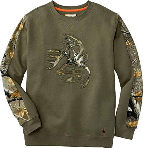 Legendary Whitetails Herren Outfitter Crew Fleece Langärmelig, Army, Medium von Legendary Whitetails