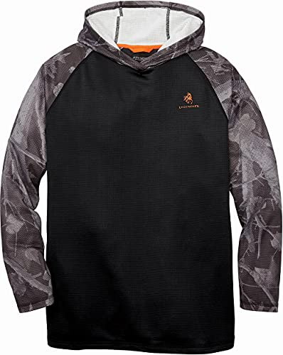 Legendary Whitetails Herren Recon Hooded Fleece Kapuzenpullover, schwarz, Large Hoch von Legendary Whitetails
