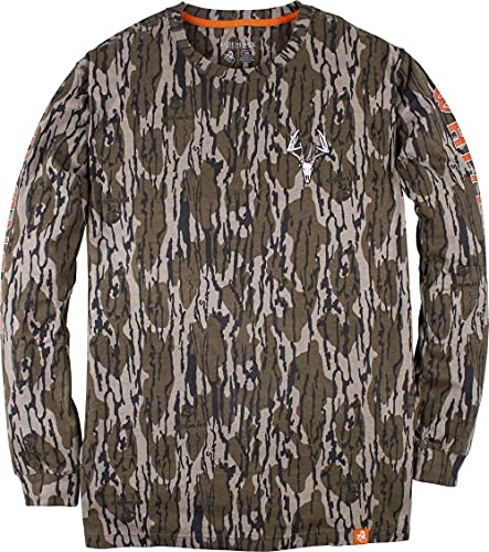 Legendary Whitetails Men's Non-Typical Long Sleeve T-Shirt, Mossy Oak Bottomland, 4X-Large von Legendary Whitetails