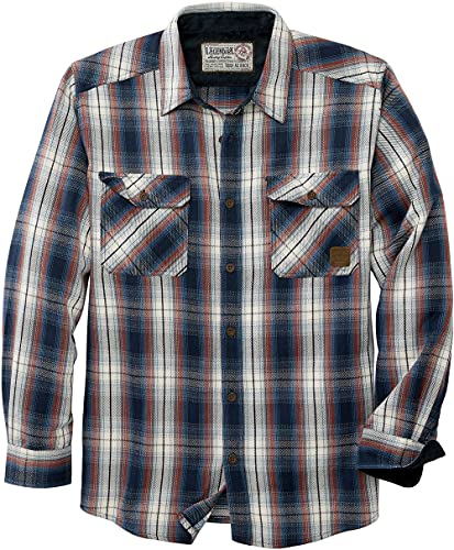 Legendary Whitetails Men's Tough as Buck Heavyweight Long Sleeve Flannel Shirt, Crimson Night Plaid, Large von Legendary Whitetails