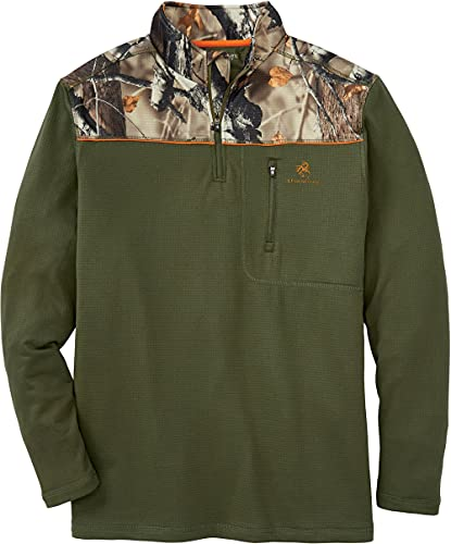 Legendary Whitetails Recon 1/4 Reißverschluss Fleece Viertel-Reißverschluss, Herren, Recon 1/4 Zip Fleece, Army, Small von Legendary Whitetails