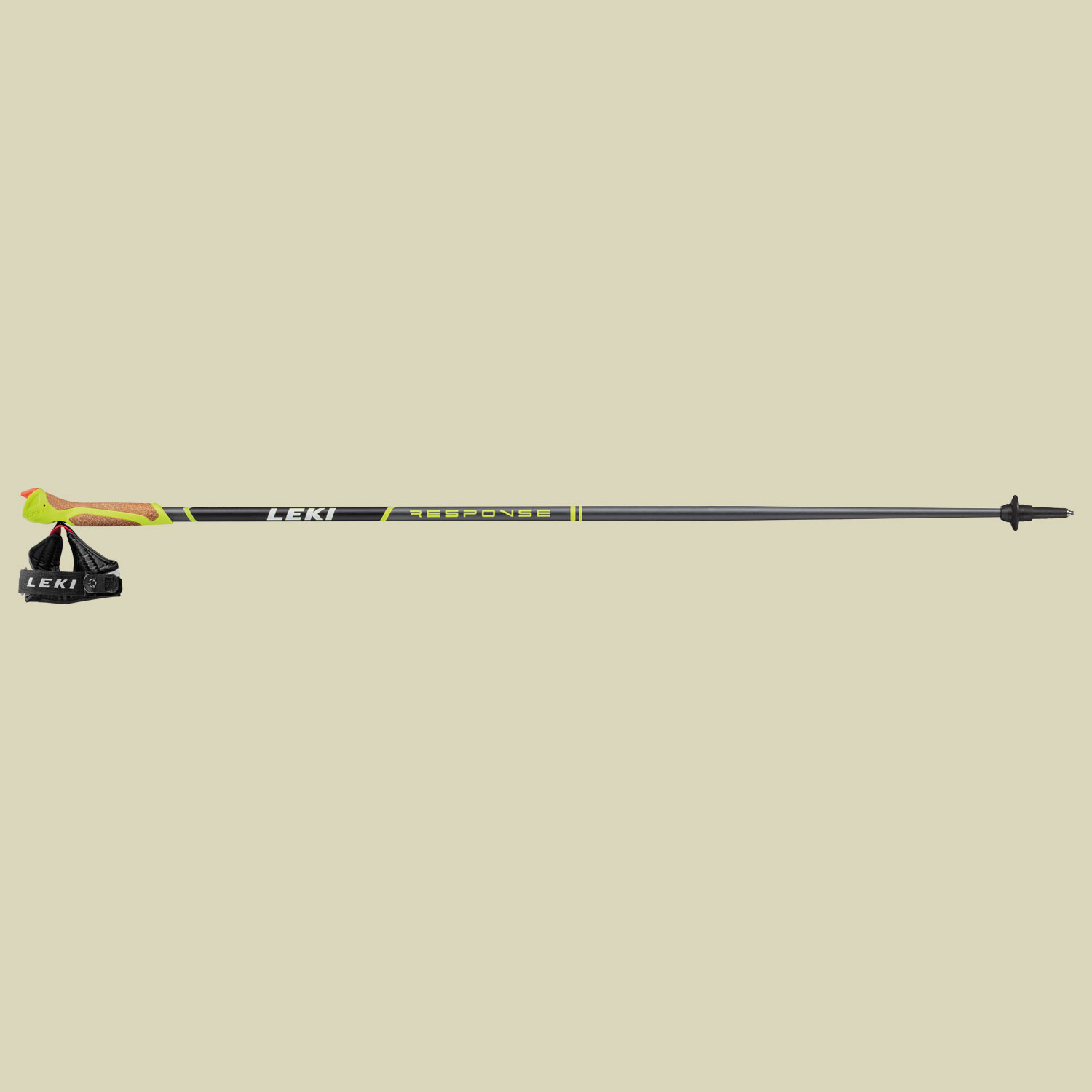 Leki Response Nordic Walking Stock Länge 105 cm anthracite-black-green von Leki