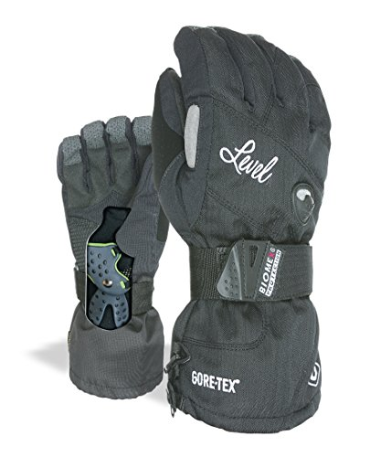 Level Damen Half Pipe Gore-Tex Handschuhe, Black, 6,5 von Level