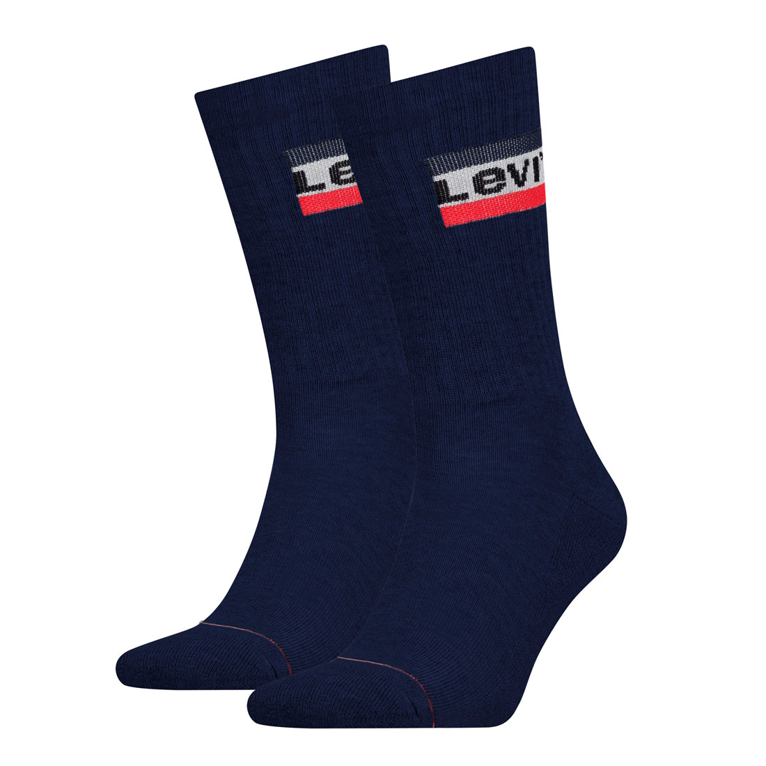 2 Paar Levis 144NDL Regular Cut SPR Unisex Socken Strümpfe 902012001 39-42, 198 - Dress Blues von Levi's