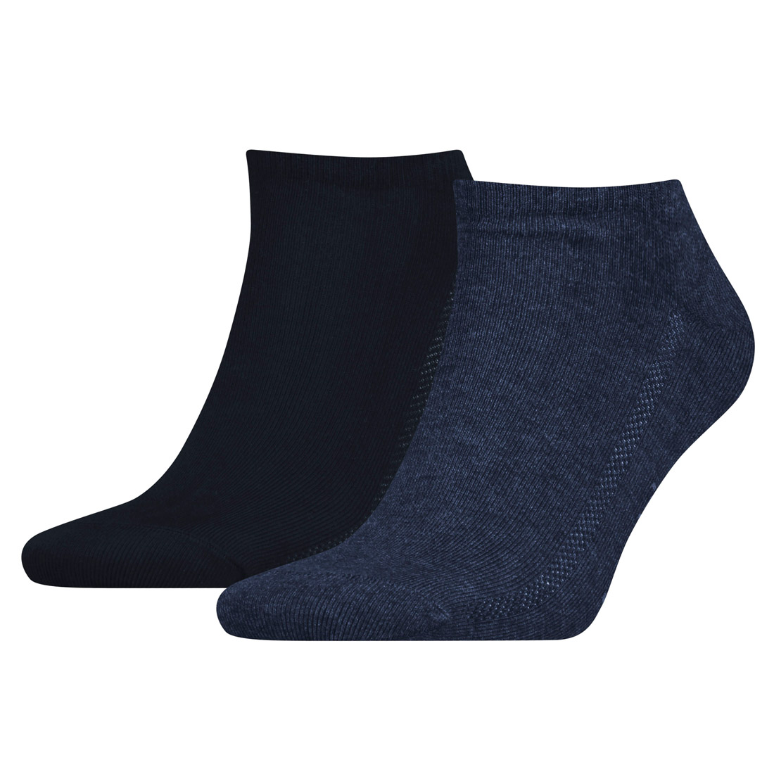 2 Paar Levis Unisex Socken 168SF Low Cut Sneakersocken Kurzsocken 39-42, 460 denim blue von Levi's