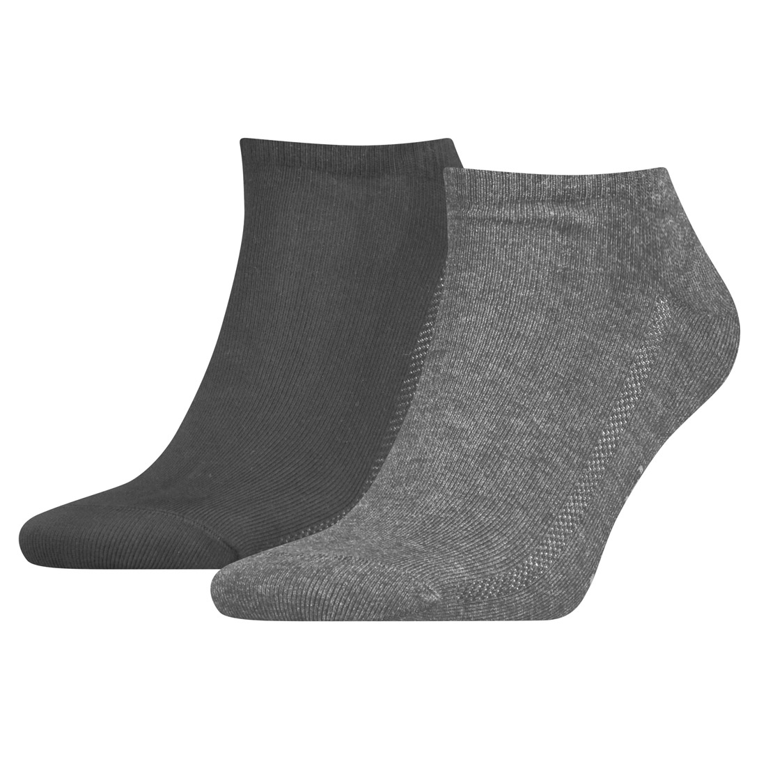 2 Paar Levis Unisex Socken 168SF Low Cut Sneakersocken Kurzsocken 758 - middle grey mélange, 39-42 von Levi's