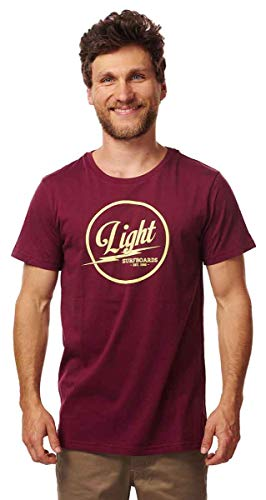 Light Herren Surfboards T-Shirts, Oberteile & Polos, Burgundy, M von Light