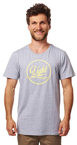 Light Herren Surfboards T-Shirts, Oberteile & Polos, Dark Grey Heather, S von Light