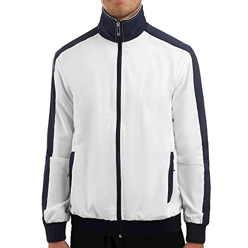 Limited Sports Herren Sports, Jerry Trainingsjacke Weiß, Dunkelblau, S Oberbekleidung, S von Limited Sports