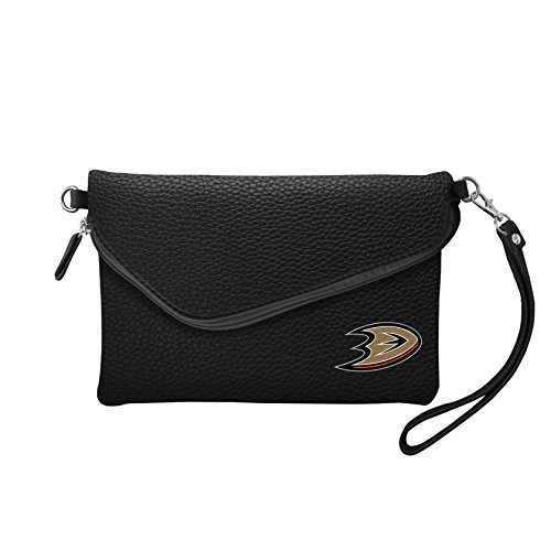 "Littlearth Damen NHL Buffalo Säbel Fold Over Crossbody Pebble Geldbörse, Marineblau, Damen, 500432-DUCK-BLCK, Schwarz, 9"" x 6"" x 1"" von Littlearth"