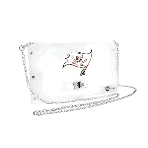 Littlearth NFL Unisex NFL Clear Carryall Umhängetasche, Unisex, NFL, Blumenmuster, 12-inches by 12-inches by 6-inches von Littlearth