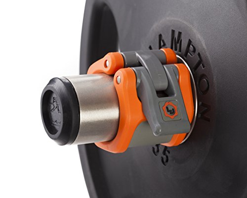 Lock-Jaw Hex 50 mm/5,1 cm Olympic Hantelverschlüsse, Orange von Lock-Jaw Barbell Collars