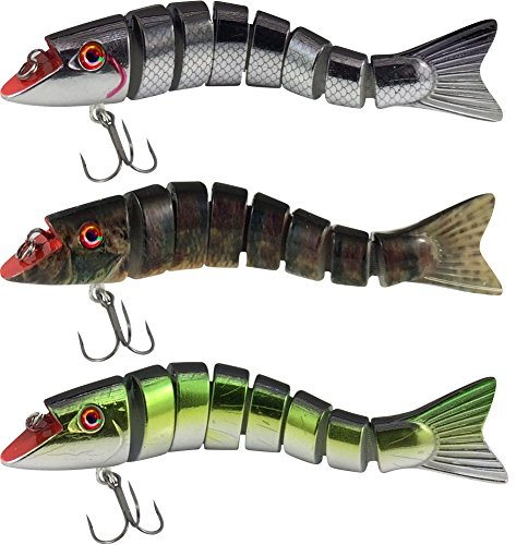 Lucky Bug Zombie Maxx Walleye and Pickeral Combo - 3 inch - Three Assorted Colors von Lucky Bug
