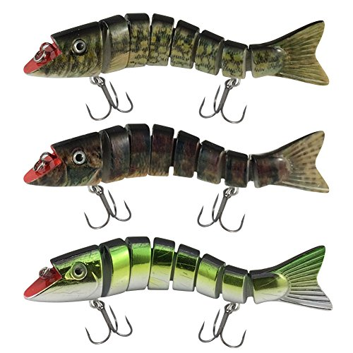 Lucky Bug Zombie Maxx Walleye and Pickeral Combo- Size 5 inch - Three Assorted Colors von Lucky Bug