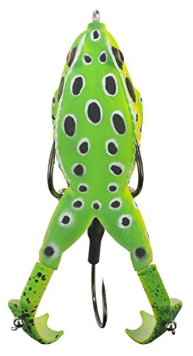 "Lunkerhunt Prop Frog, Leopard – Fishing Lure with Realistic Design, Prop Action Calls in Fish, Great for Bass and Pike, Freshwater Lure with Hollow Body, Weighs ½ oz, 3.5"" Length von Lunkerhunt"