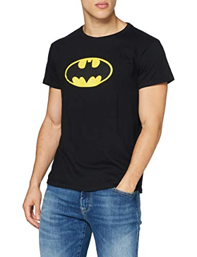 MERCHCODE Herren Batman Logo Tee T-shirt, black, XL von MERCHCODE