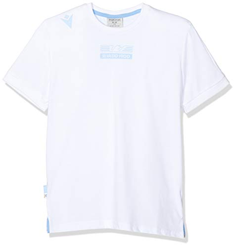 Macron SSL Merch Bj BIA Jr, Polycotton Offizielles T-Shirt Junior Mm SS Lazio 2019/2020 Bambino, Kinder, 58015019, weiß, JM von Macron