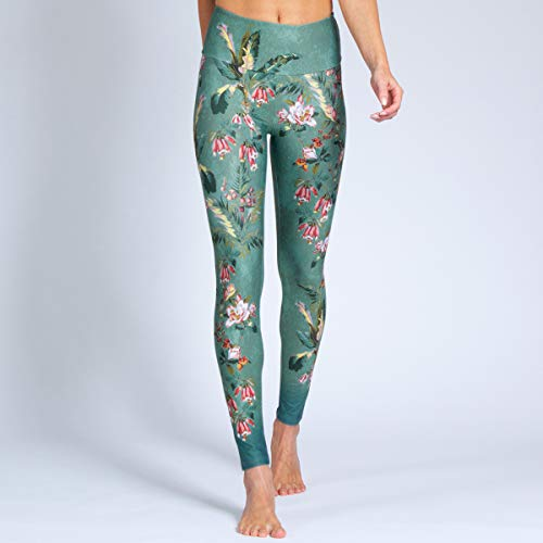 Magadi Yoga-Leggings Secret Garden für Damen, aus Funktionsmaterial, Lange Damen-Sporthose für Yoga und Gym, nachhaltige Materialien, Made in Germany von Magadi