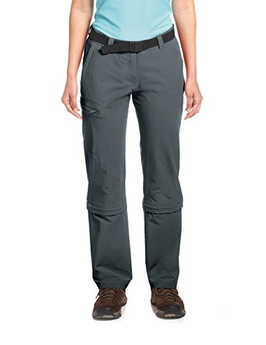 Maier Sports Damen Hose Arolla Zip Off, grau (graphite), 18 von Maier Sports