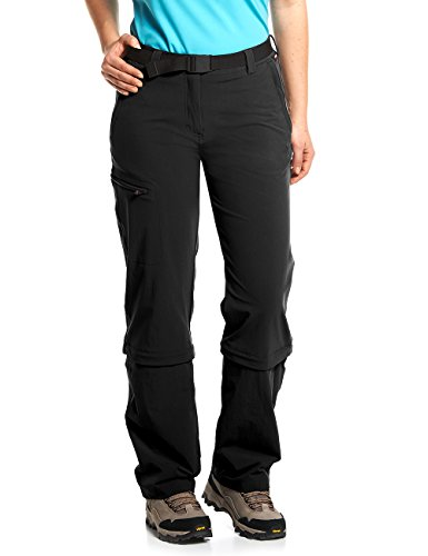 Maier Sports Damen Hose Arolla Zip Off, schwarz (black), 18 von Maier Sports