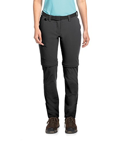 Maier Sports Damen Inara Slim Zip Wanderhose Bermuda-Zipp-Off, Black, 80 von Maier Sports