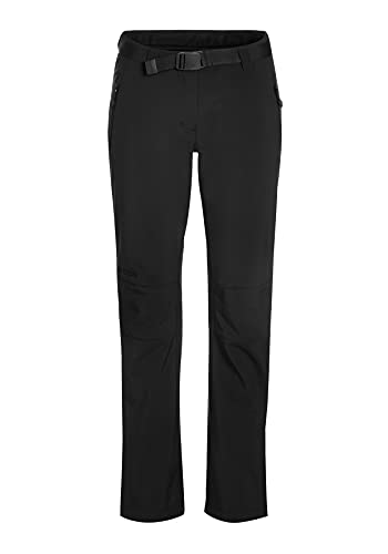 maier sports Damen Softshellhose Tech Pants W, Schwarz, 40 von Maier Sports