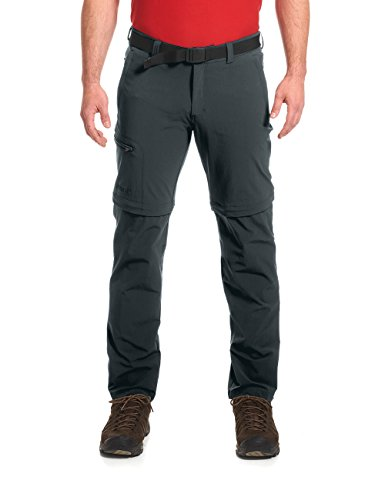 Maier Sports Herren Outdoor Hose T-Zipp Tajo, Graphite, 68 von Maier Sports
