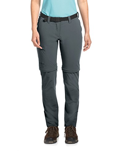 Maier Sports Damen Inara Slim Zip Wanderhose Bermuda-Zipp-Off, Graphite, 22 von Maier Sports