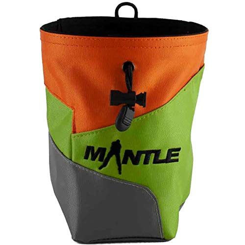 Mantle - Chalkbag Kreidebeutel Juggy in orange/grün/grau für Kletterkreide zum Bouldern und Klettern von MANTLE climbing equipment