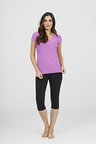 Marika Damen Champ Kurzarm Shirt, Heather Magenta Muse, L von Marika