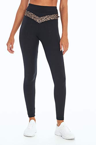 Marika Damen Jesse High Rise Pocket Leggings, Damen, knöchellange Leggings, Jesse High Rise Pocket Legging, Pinienrinde, Gepard, Small von Marika