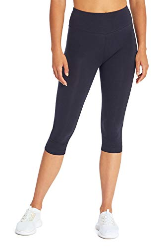 Marika Damen Carrie Bauchkontrolle Capri Leggings, Damen, Caprihose, Women's Carrie Tummy Control Capri Legging, Midnight Blue, Small von Marika