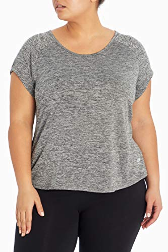 Marika Huntington Damen-T-Shirt, Übergröße, Damen, kurzärmelig, Plus Size Huntington Tee, Heather Black, 1X von Marika