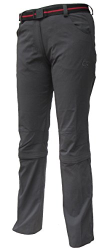 Maul Damen Outdoor Capri Zip-Off Hose Trail II, anthrazit, 52 von Maul